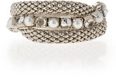RJ Graziano Silvertone Stretch Bracelet Set