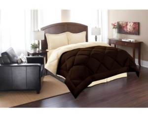 Elegant Comfort All - Season Down Alternative Luxurious Reversible 3-Piece Comforter Set Full/Queen Bedding