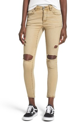 One Teaspoon Freebirds Ripped Low Waist Skinny Jeans