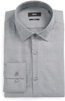 HUGO Men's Boss Jenno Slim Fit Plaid Dress Shirt