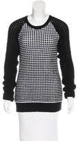 Jason Wu Long Sleeve Crew Neck Sweater