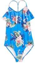 Seafolly Retro Tropic Ruffle One-Piece Swimsuit