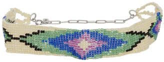 Isabel Marant Off-White and Multicolor Beaded Choker