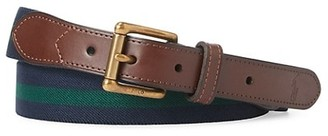 Polo Ralph Lauren Stripe & Leather Belt