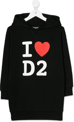 DSQUARED2 Logo Hoodie Dress