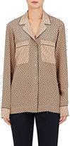 Stella McCartney Women's Silk Crêpe De Chine Pajama-Inspired Top