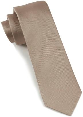 Tie Bar Grosgrain Solid Champagne Tie