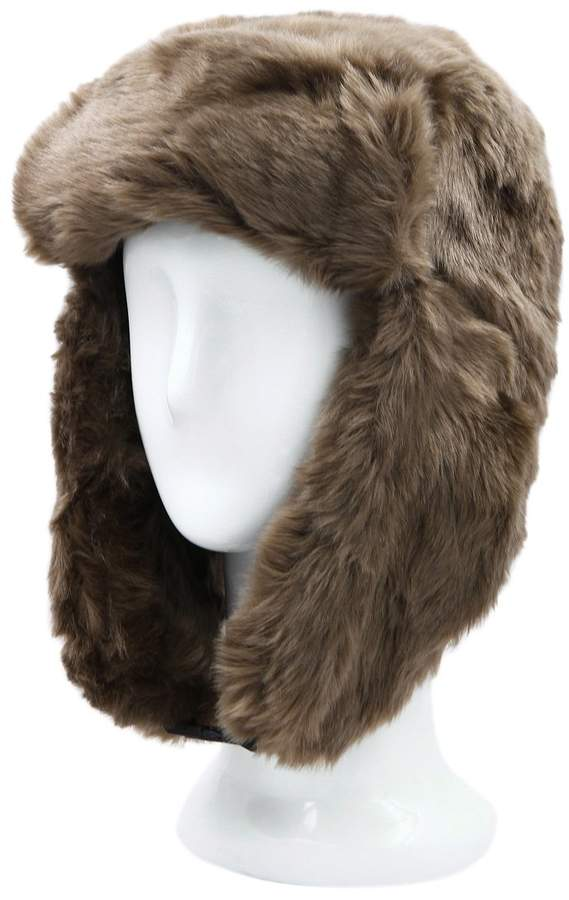 79b197938 TrendsBlue Warm Winter Solid Color Faux Fur Trapper Ski Snowboard Hat
