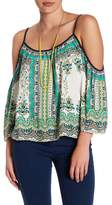 Flying Tomato Paisley Cold-Shoulder Blouse