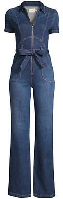Alice + Olivia Jeans Belted Denim Jumpsuit