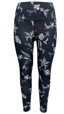 Ideology Floral-Print Pocket Leggings, Created for Macy's
