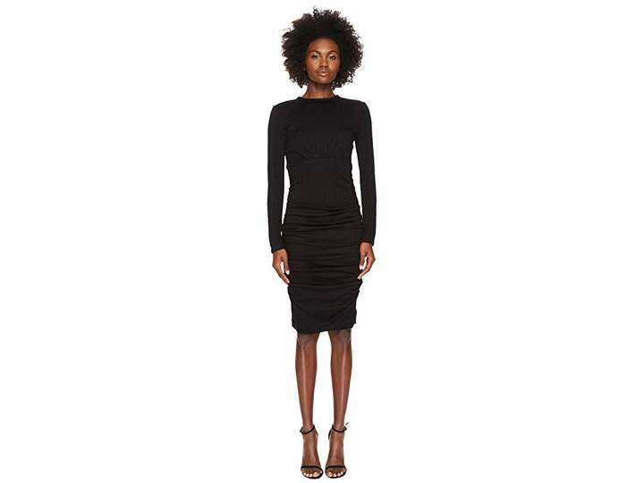 Yigal Azrouel Wool Jersey Ruched Skirt Sheath Dress Women's Dress