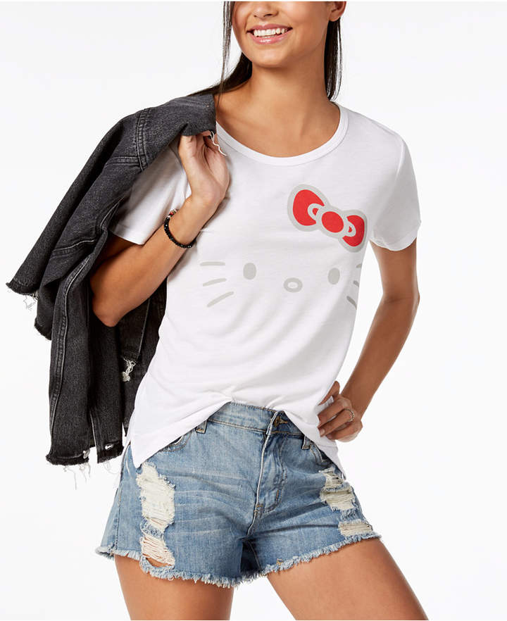 Hybrid Juniors' Hello Kitty Graphic-Print T-Shirt
