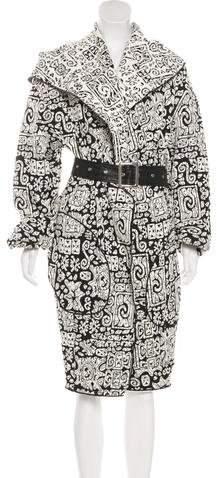 Celine Belted Long Coat