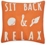 Bed Bath & Beyond Sit Back & Relax Chain Stitch Square Throw Pillow in Coral
