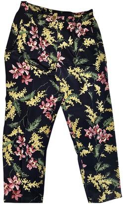 Whistles Navy Silk Trousers for Women
