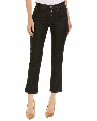 AG Jeans Women's The Isabelle Button-up High Rise Straight Crop Jean