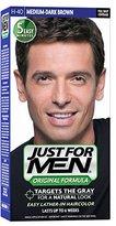 Just For Men Original Formula Men's Hair Color, Medium Dark Brown (Pack of 3)