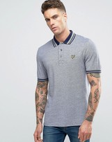 Lyle & Scott Oxford Pique Polo Eagle Logo in Navy