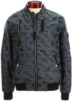 Buffalo David Bitton Jagona Camo Faux Leather Bomber Jacket
