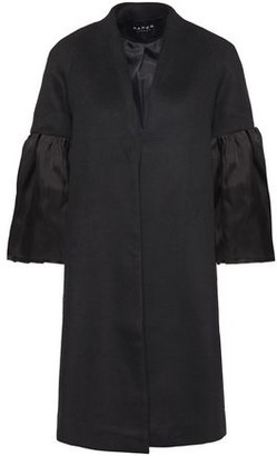 Paper London Pfeiffer Organza-trimmed Alpaca And Wool-blend Coat