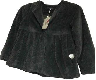 Lili Gaufrette Grey Polyester Jackets & Coats