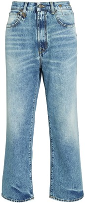 R 13 Royer Cropped Straight-Leg Jeans