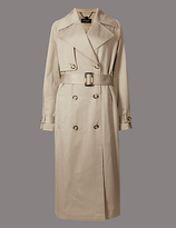 Autograph Cotton Blend Trench Coat with StormwearTM