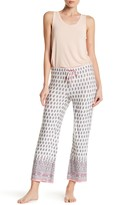 PJ Salvage Floral & Paisley Cropped Knit Lounge Pants
