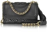Tory Burch Fleming Black Leather Micro Shoulder Bag