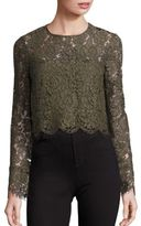 Diane von Furstenberg Yeva Floral Lace Cropped Top