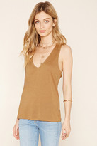 Forever 21 Contemporary Lace-Up Tank