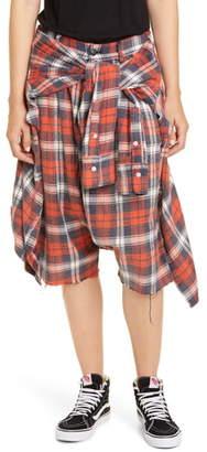 R 13 Plaid Flannel Shorts