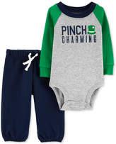 Carter Baby Boys 2-Pc. Pinch Charming Graphic Cotton Bodysuit & Pants Set