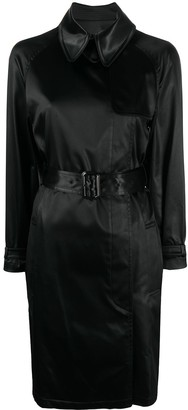 Hermes Pre-Owned Double-Breasted Belted Trench Coat