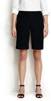 """Classic Women's Petite Mid Rise 10"""" Eyelet Shorts-Black"""