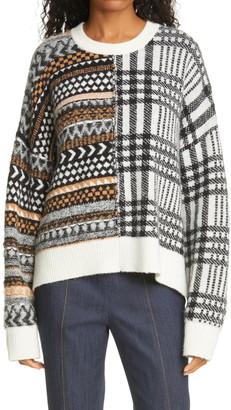 Cinq à Sept Shania Multi Pattern Pullover