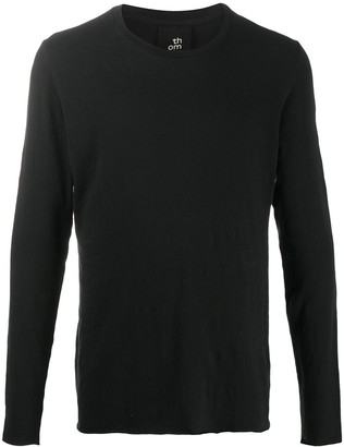 Thom Krom Raw Hem Long-Sleeved Top