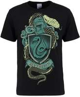 Logoshirt Harry Potter Slytherin Logo Print Tshirt Black