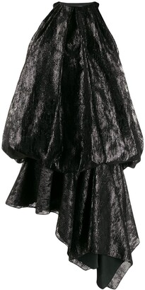 Halpern draped-balloon dress