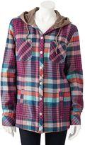 Dickies plaid hooded flannel shirt