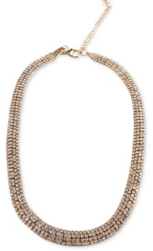 "INC International Concepts Inc Gold-Tone Rhinestone Mesh Collar Necklace, 15"" + 4"" extender, Created for Macy's"