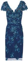 Marchesa Sequin-embellished Embroidered Tulle Dress - US10