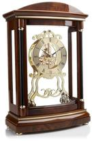 "Bulova Valeria"" Wooden Mantle Clock with Pendulum"