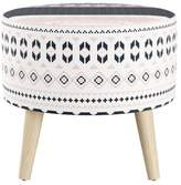 Skyline Furniture Round Ottoman with Splayed Legs Patterned