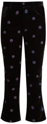 Jupe By Jackie Magia Slim-leg Silk-velvet Trousers - Womens - Black