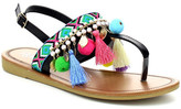 Refresh Kimmy Embroidered Pompom Sandal