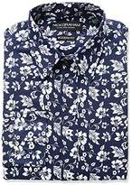 Nick Graham Men's Hawaiian Floral Print Dress Shirt