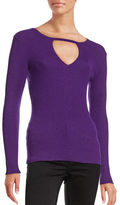 I.N.C International Concepts Petite Ribbed Cutout Sweater