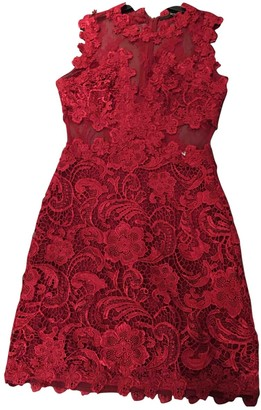 GUESS Red Lace Dress for Women